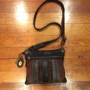 FOSSIL Large leather crossbody